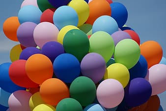 Assorted-color balloons