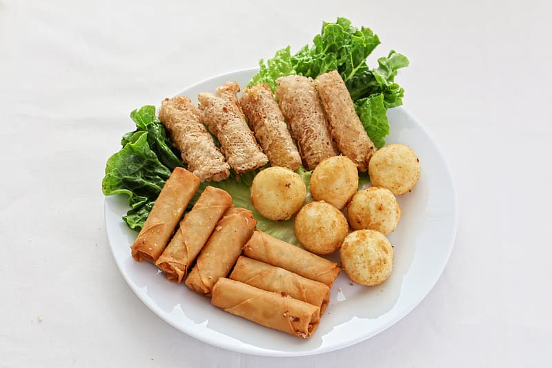 Fried dishes on plate
