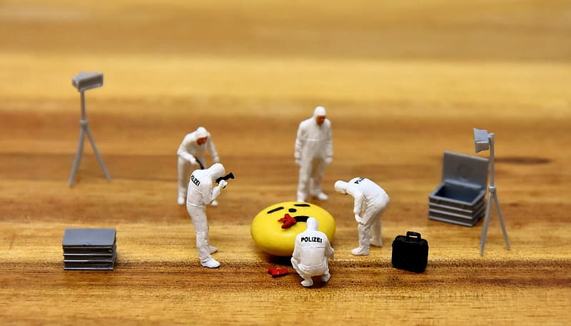 Depth of field photography of astronauts figurines