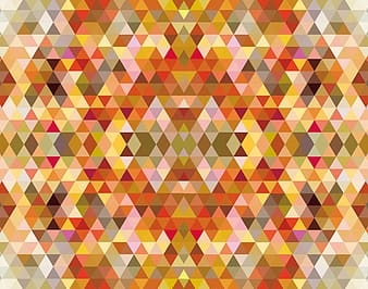 Yellow red and white checked pattern