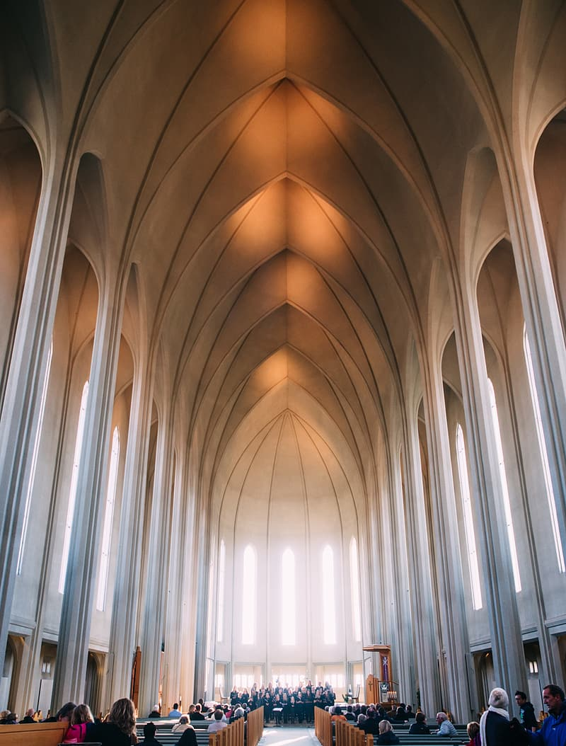 Photography of cathedral interior