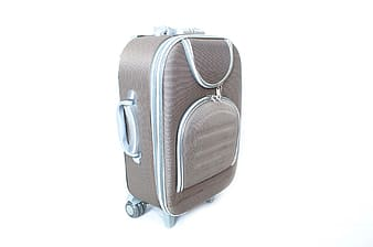 Gray travel luggage