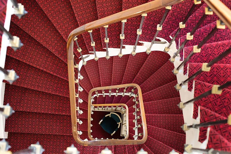 Red and brown stairs