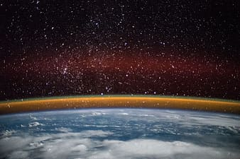Photo of earth and its atmosphere