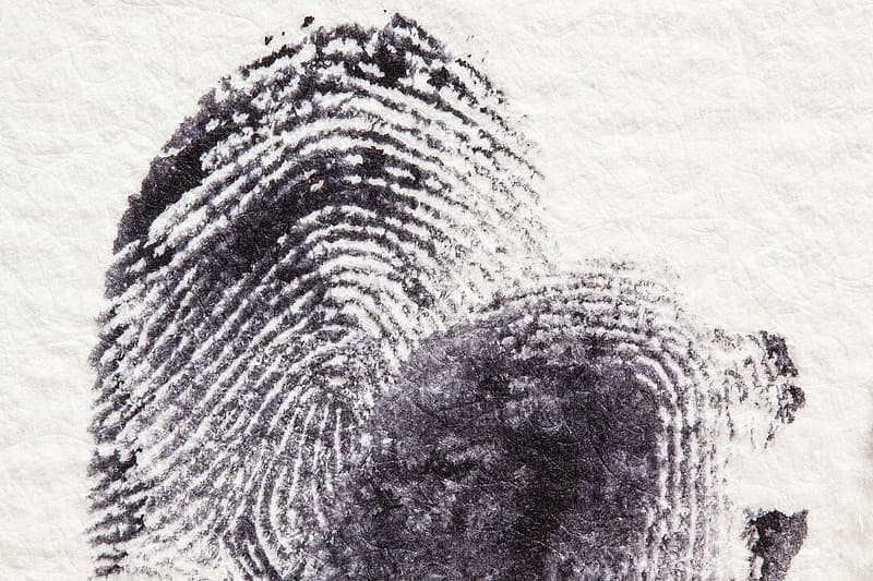 Close shot of finger print
