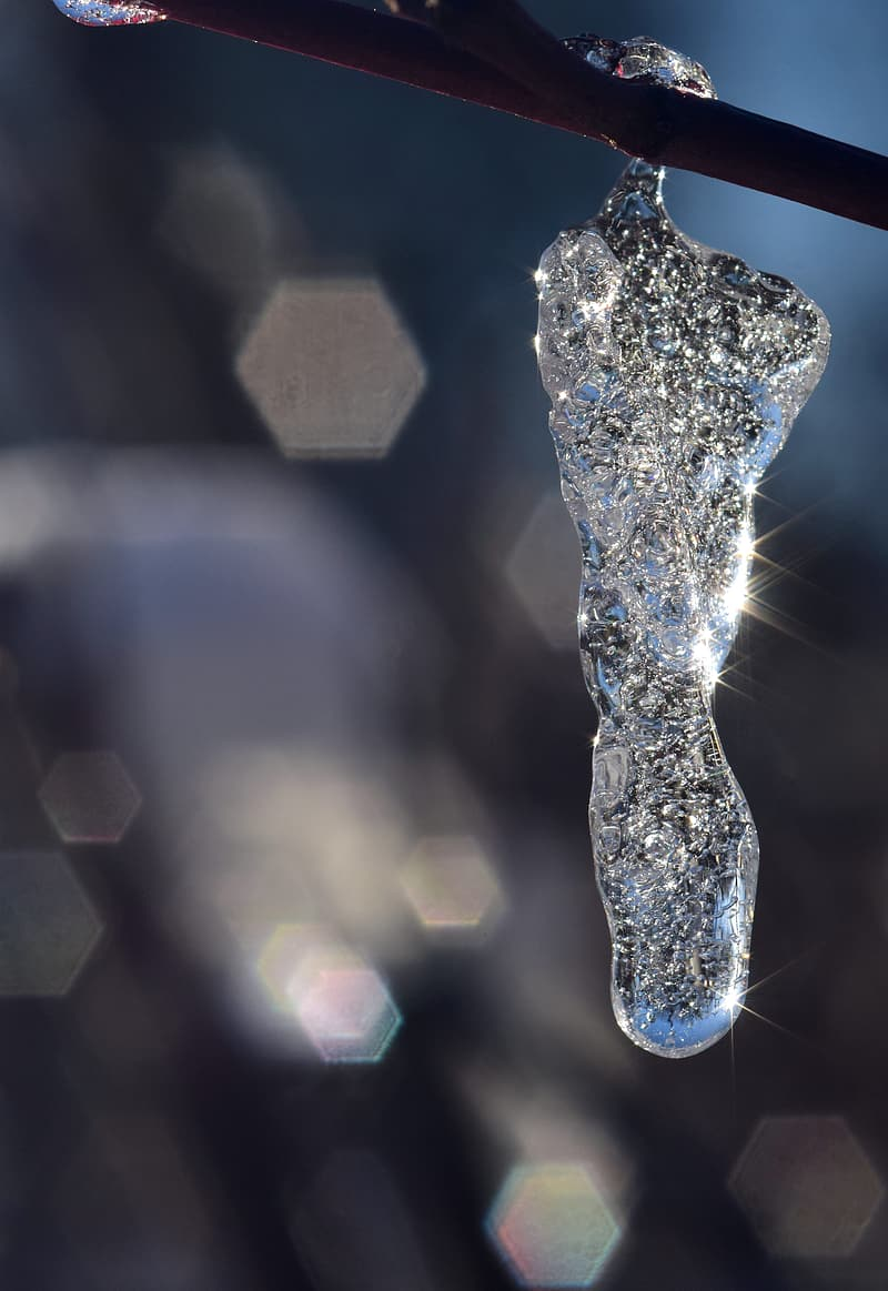 Selective photography of ice