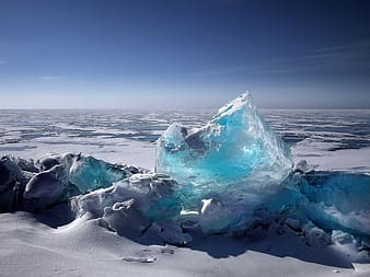 White and blue iceberg