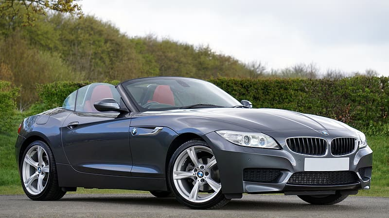 Gray BMW convertible coupe