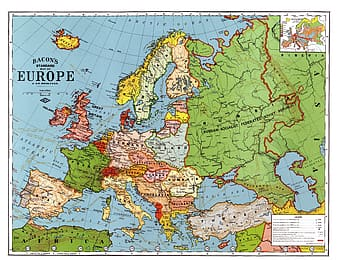 Green and white Europe map