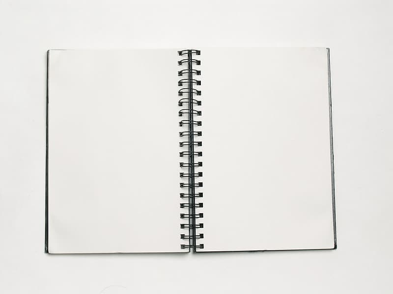 White planner page
