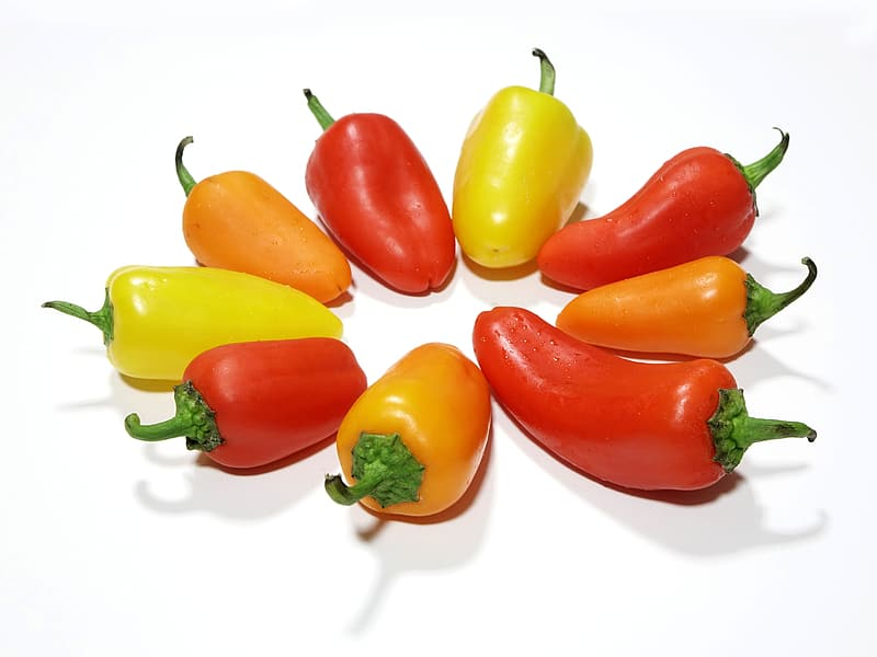Assorted-color bell peppers