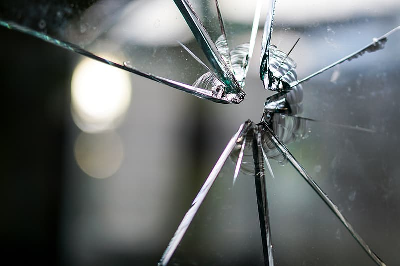Clear cracked glass