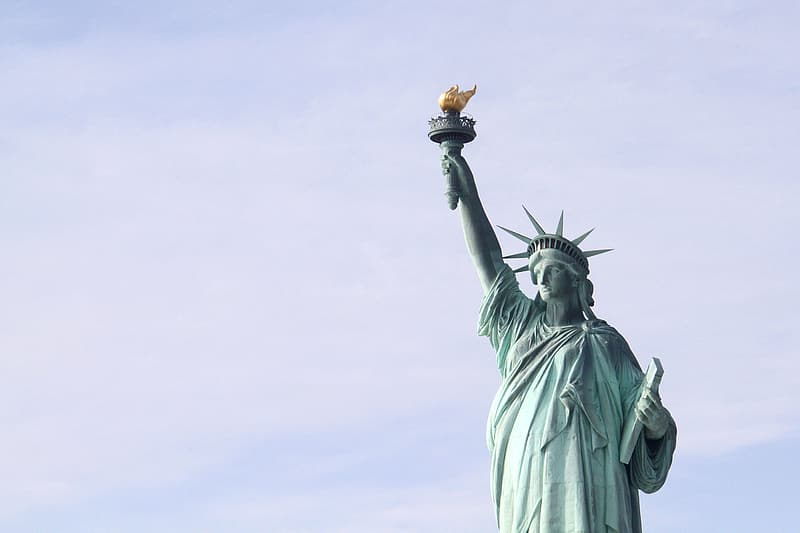 Low angle photo of Statue of Liberty