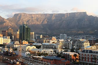 Aerial photography of cape town