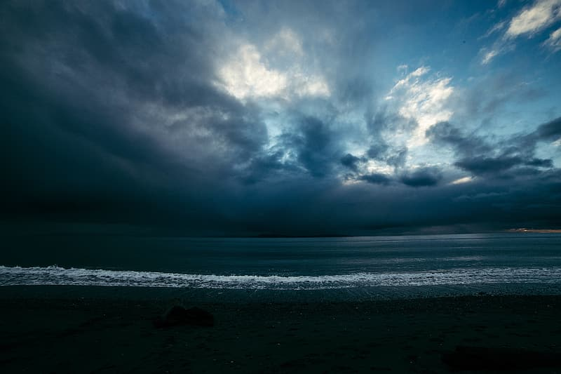 Ocean under blue and white cloudy sky during daytime