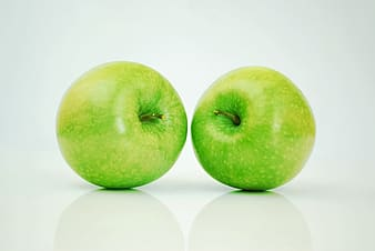 Two green apples fruits
