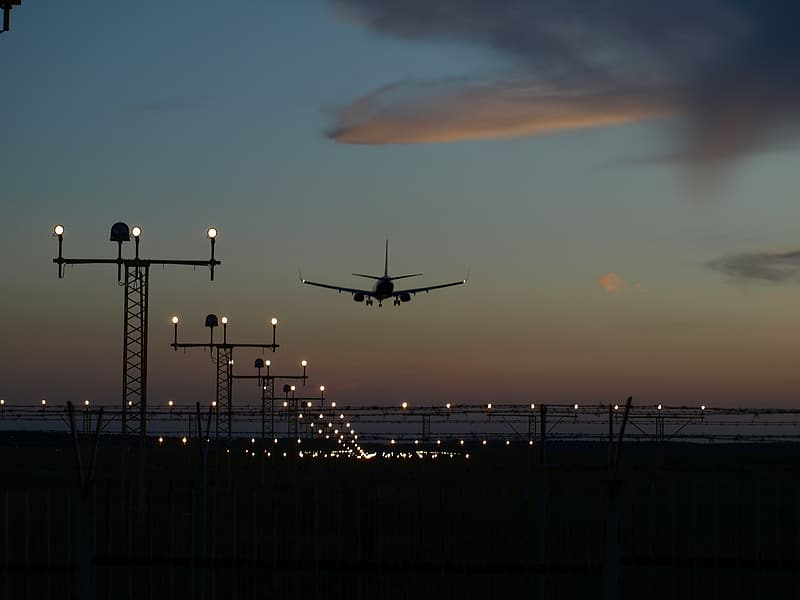 Silhouette of airline