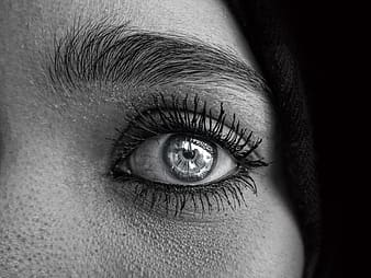 Close-up photo of woman's left eye