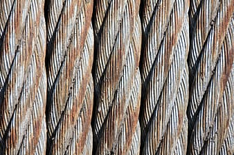 Close-up photography of brown and gray rusty cables