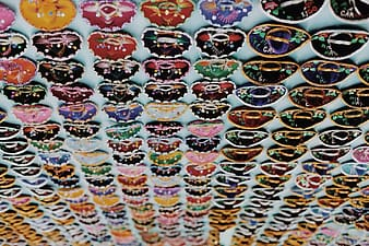 Assorted color and pattern bracelets