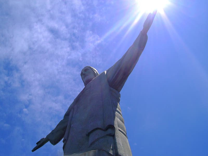 Low angle photography of Christ of the Redeemer