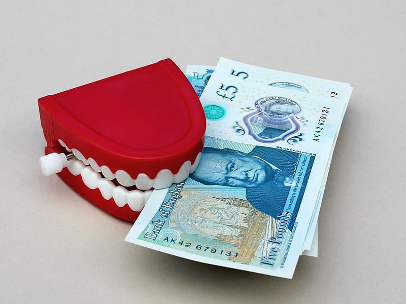 Red and white teeth holder