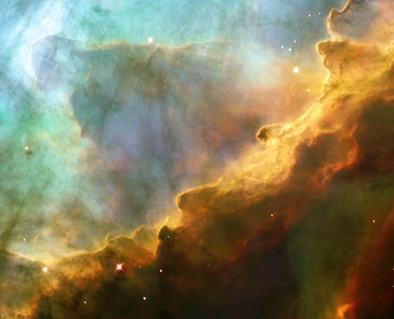 Star and cloud effect background