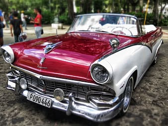 Red Cadillac coupe
