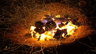 Steel wool photo of bonfire