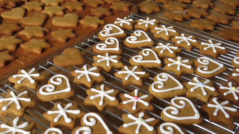 Star and heart cookies