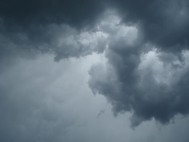 High angle view of gray cloudy sky