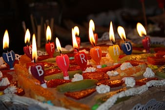 Assorted-color birthday candles