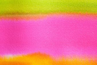 Green orange and yellow abstract painting