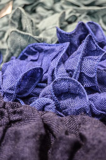 Closeup photo of purple mesh cloth
