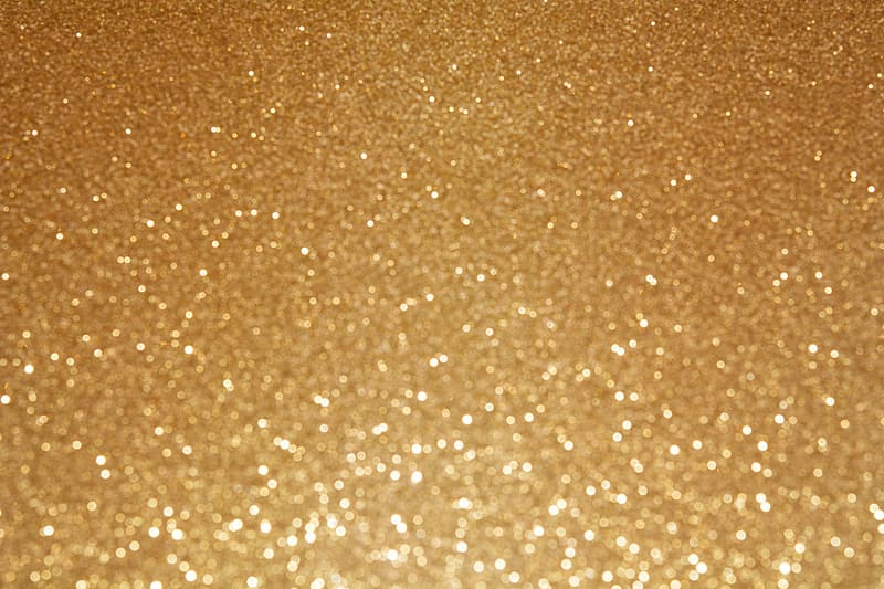 Photo of gold glitter textile