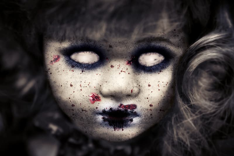 Scary doll wallpaper