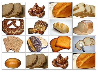 Variety of bread collage