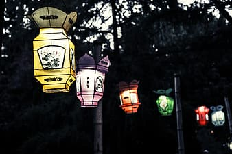 Assorted-color outdoor lamp,s