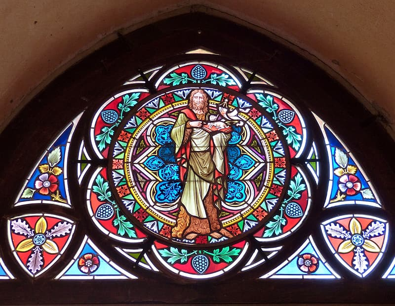 Stained glass religious wall decor