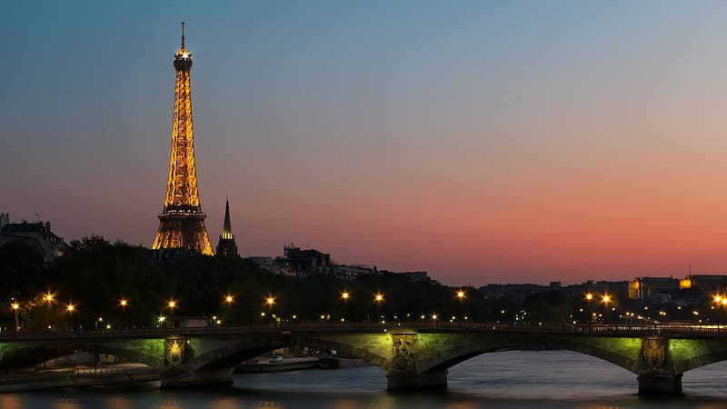 Photo of lighted city of Paris