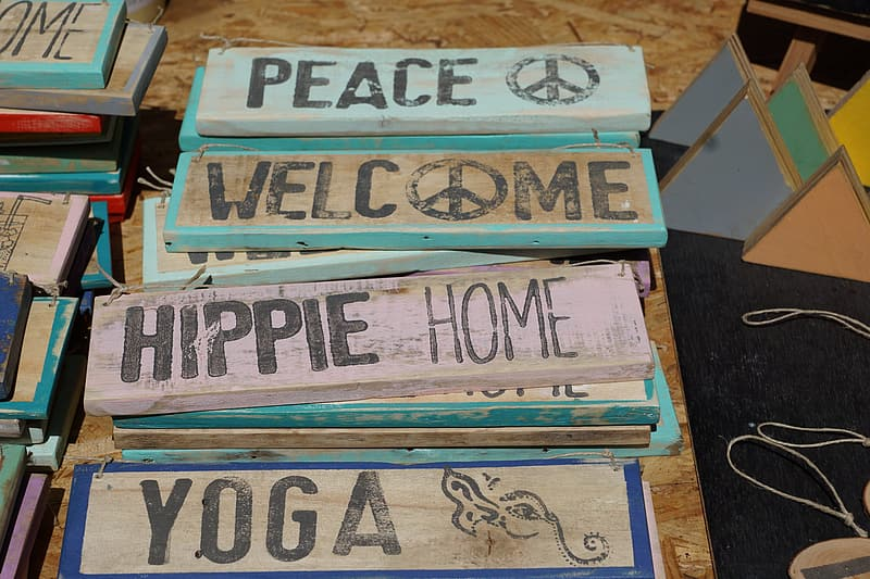 Brown wooden signage lot