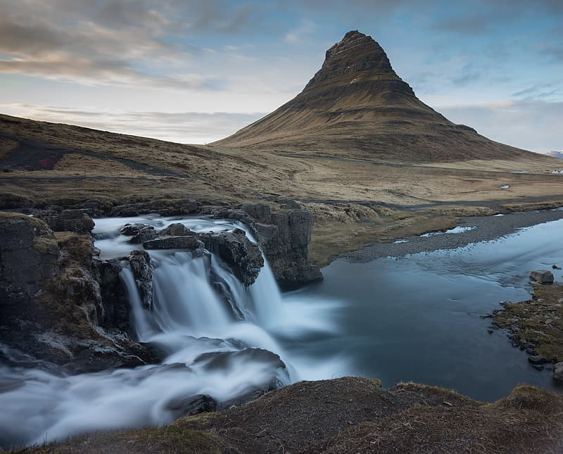 Waterfalls in long exposure photography