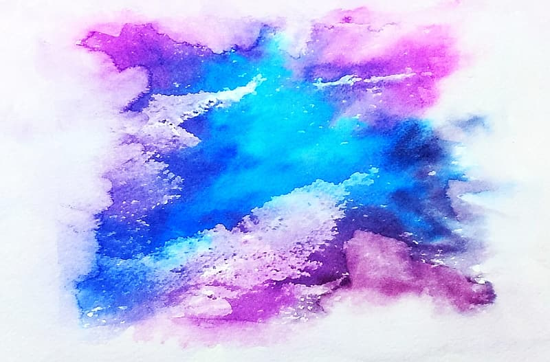 Photo of blue and purple abstract artwork