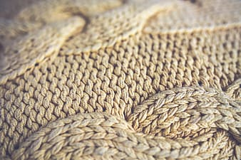 Brown knit textile