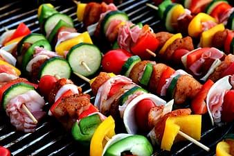 Kebab on the grill