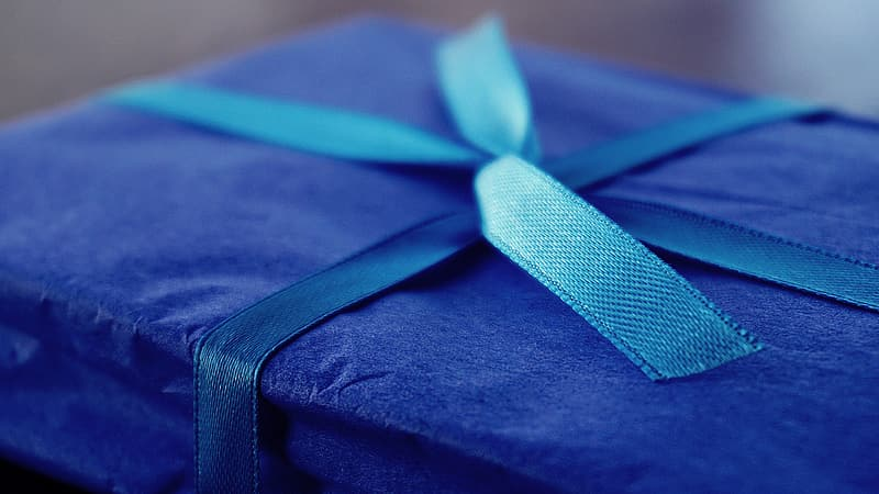 Blue and black gift box