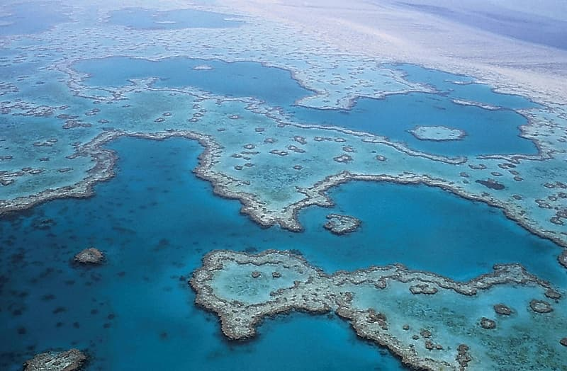 Aerial photography of The Great Blue Hole