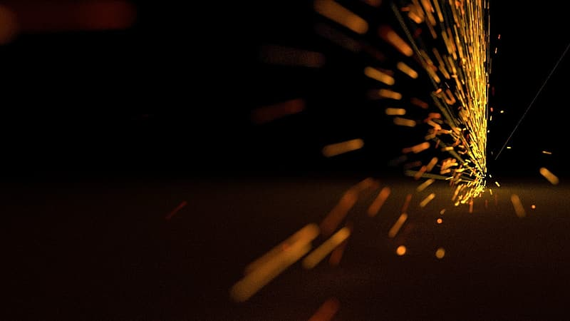 Steel wool photography of fireworks
