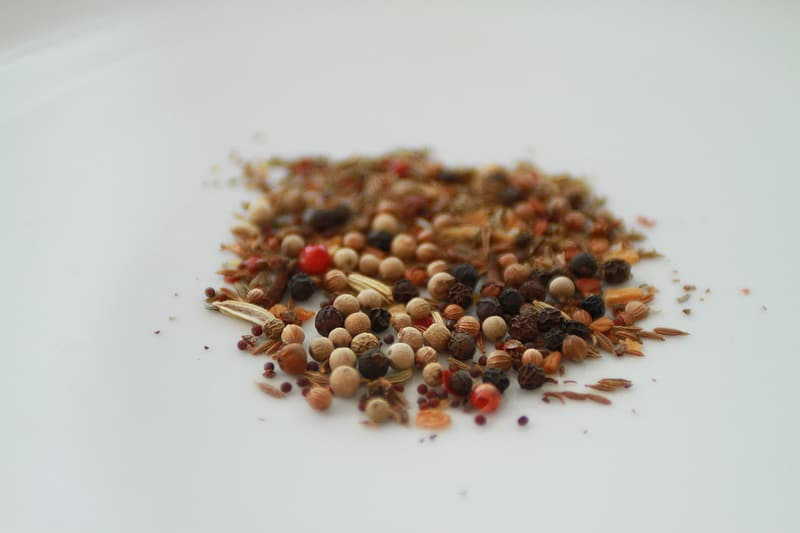 Selective focus photo of brown seeds