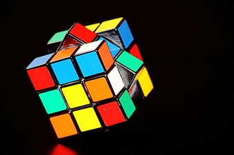 3x3 Rubik's cube on black background